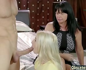 Mom watches dad & daughter having sex