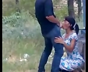 Desi girl sucking dick outdoor