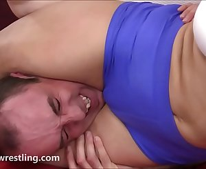 The 3 Round Challenge - Mixed Wrestling Face-sitting Humiliation